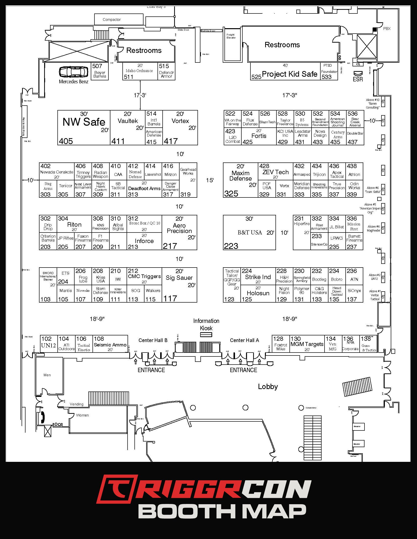 Triggrcon Booth Map